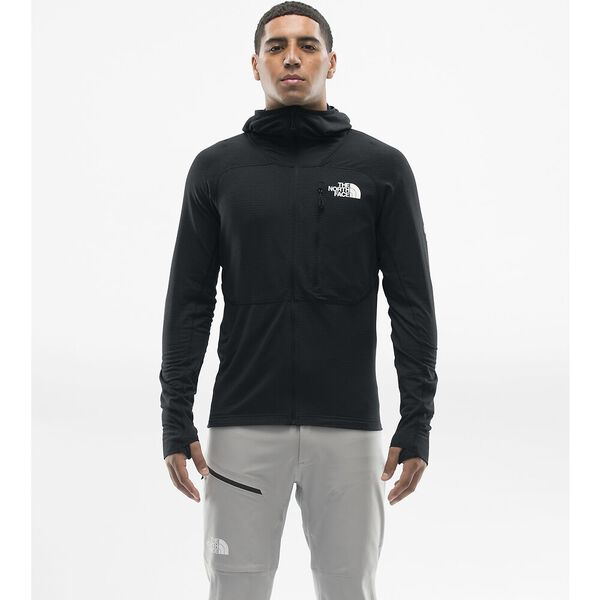 MEN'S L2 POWER GRID LT SUMMIT SERIES™ HOODIE, TNF BLACK, hi-res