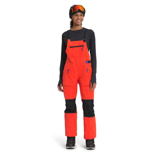 Women's Team Kit Bib, FLARE/TNF BLACK, hi-res
