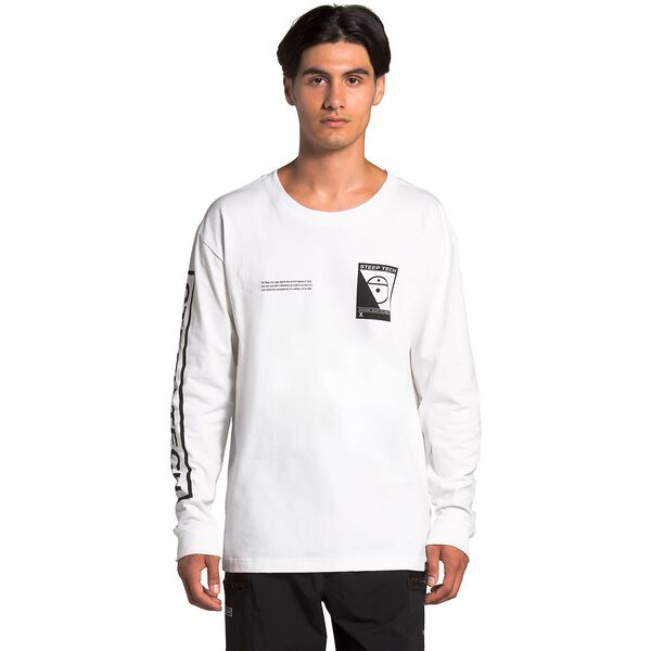 Unisex Long-Sleeve Steep Tech™ Tee, TNF WHITE, hi-res