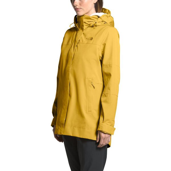 Women's Westoak City Trench, BAMBOO YELLOW, hi-res