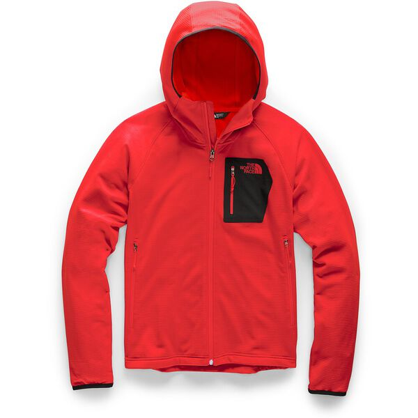 MEN'S BOROD HOODIE, FIERY RED/TNF BLACK, hi-res