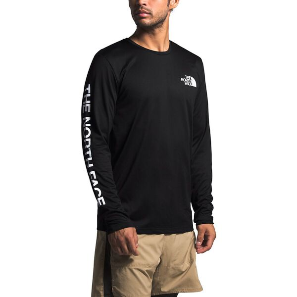 Men's Long-Sleeve Reaxion Graphic Tee, TNF BLACK, hi-res