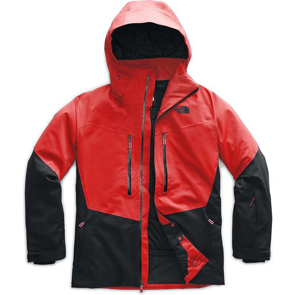 Men's Chakal Jacket, FIERY RED/TNF BLACK, hi-res