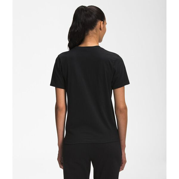 Women's Short-Sleeve Half Dome Cotton Tee, TNF BLACK, hi-res