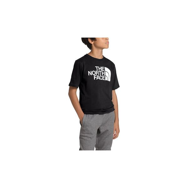 Boys' Short-Sleeve Half Dome Tee, TNF BLACK, hi-res