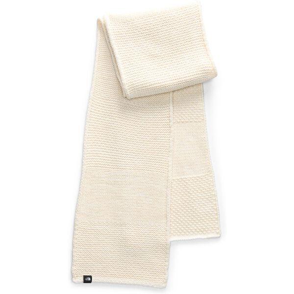 Women's Purrl Stitch Scarf, BLEACHED SAND/VINTAGE WHITE, hi-res