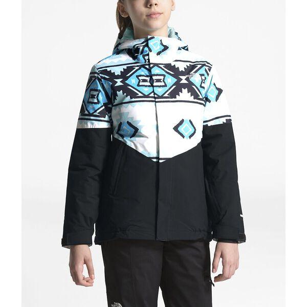 Girls' Brianna Insulated Jacket, TNF WHITE TRIBAL GEO PRINT, hi-res