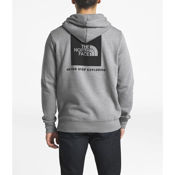 MEN'S RED BOX PULLOVER HOODIE, TNF MEDIUM GREY HEATHER/TNF BLACK, hi-res