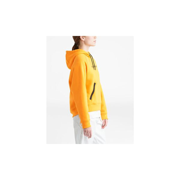 WOMEN'S NSE GRAPHIC PULLOVER HOODIE, TNF YELLOW, hi-res