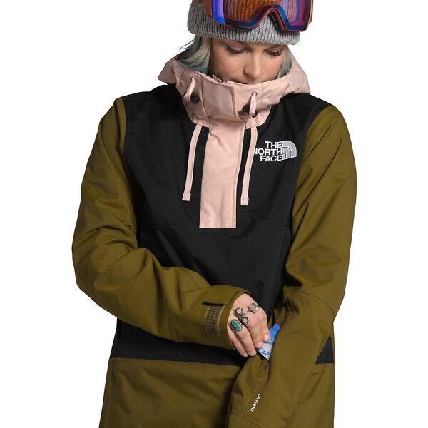 Women's Tanager Jacket, TNF BLACK/FIR GREEN/MORNING PINK, hi-res