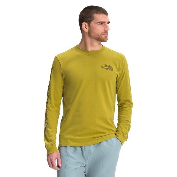 Men's Long-Sleeve TNF™ Sleeve Hit Tee, MATCHA GREEN, hi-res