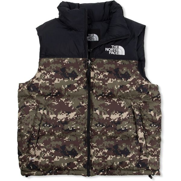 Men's 1996 Retro Nuptse Vest, BURNT OLIVE GREEN UX DIGI CAMO PRINT, hi-res