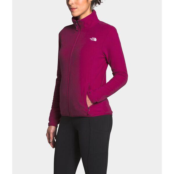 Women's TKA Glacier Fleece Full Zip Jacket, DRAMATIC PLUM/DRAMATIC PLUM, hi-res