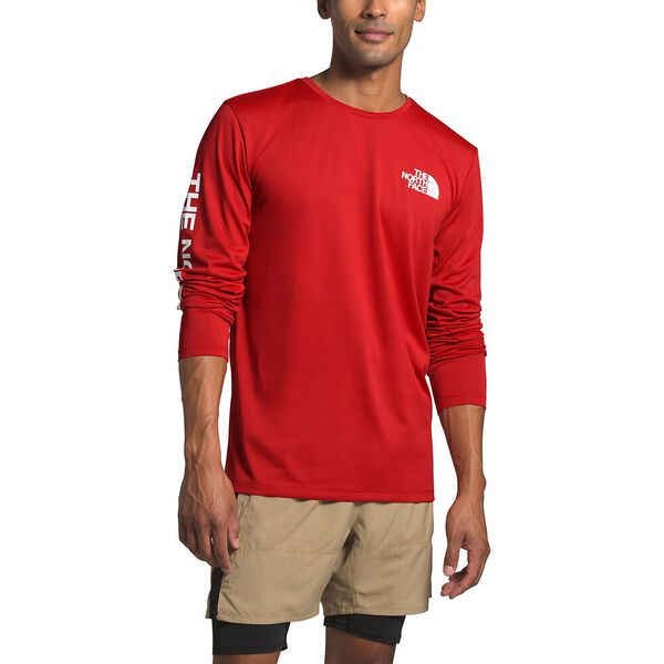Men's Long-Sleeve Reaxion Graphic Tee, POMPEIAN RED, hi-res
