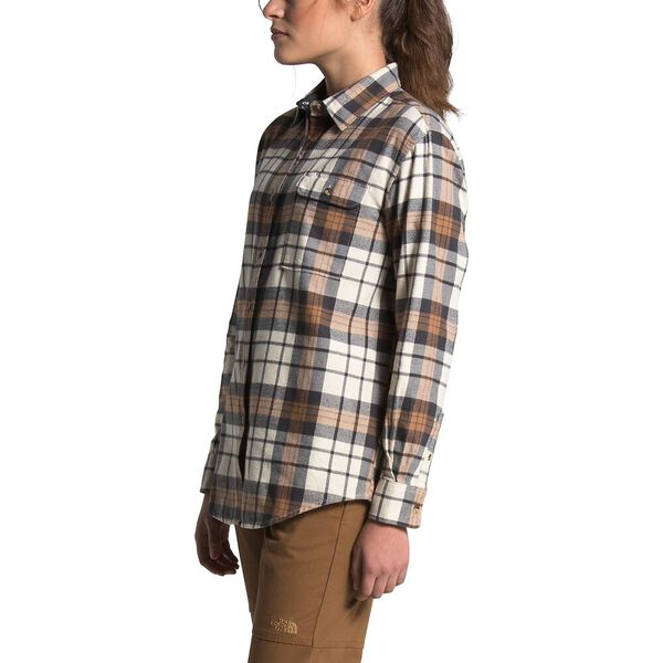Women's Berkeley Long-Sleeve Boyfriend Shirt, VINTAGE WHITE HERITAGE MEDIUM THREE COLOR PLAID, hi-res
