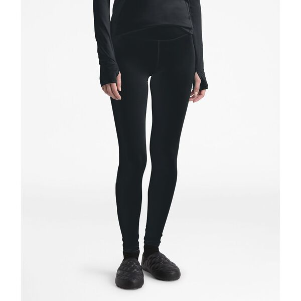 WOMEN'S WARM POLY TIGHT, TNF BLACK, hi-res