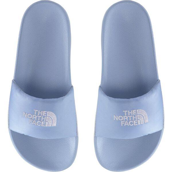 Women's Nuptse Slides, ANGEL FALLS BLUE/TNF WHITE, hi-res