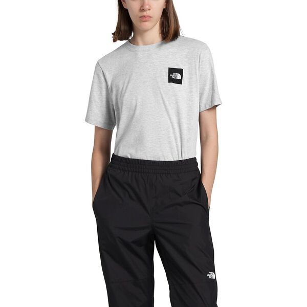 Women's Short-Sleeve Box Tee, TNF LIGHT GREY HEATHER, hi-res