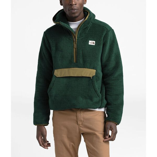 Men's Campshire Pullover Hoodie, NIGHT GREEN/BRITISH KHAKI, hi-res