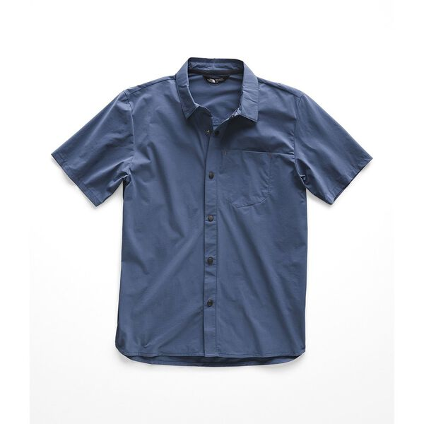 MEN'S NORTH DOME S/S SHIRT, SHADY BLUE, hi-res