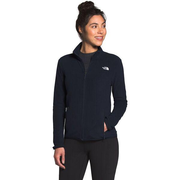 Women's TKA Glacier Fleece Full Zip Jacket, AVIATOR NAVY/AVIATOR NAVY, hi-res