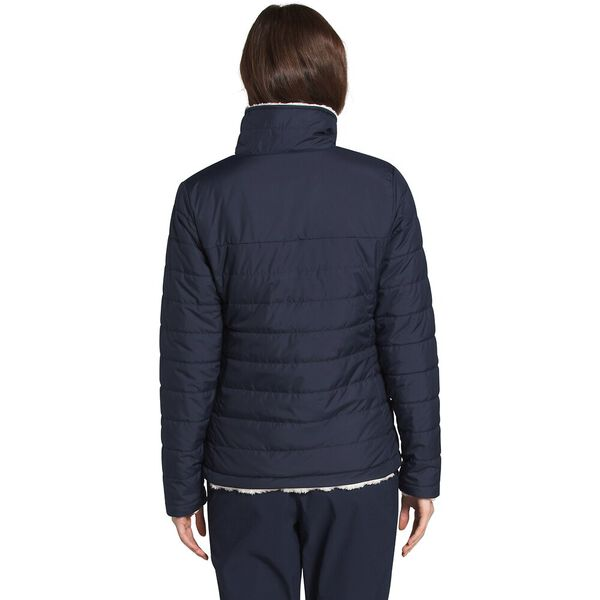 Women's Mossbud Insulated Reversible Jacket, AVIATOR NAVY/VINTAGE WHITE, hi-res