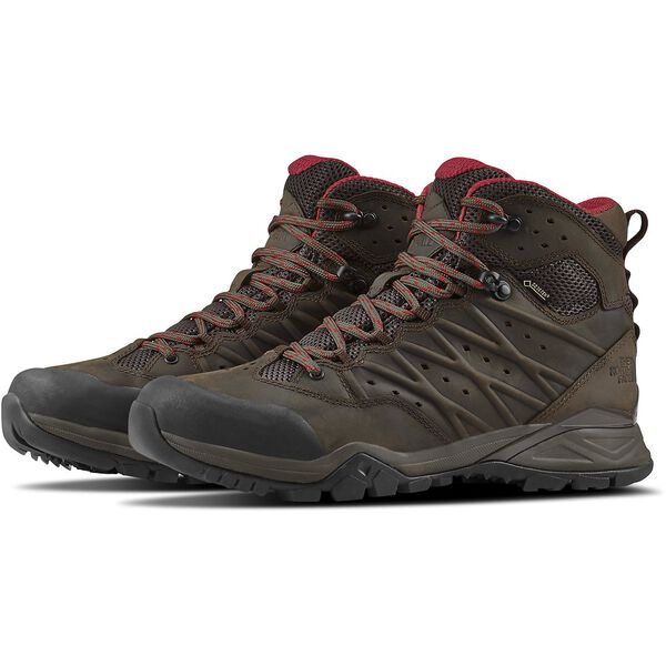 MEN'S HEDGEHOG HIKE II MID GTX, BONE BROWN/RAGE RED, hi-res