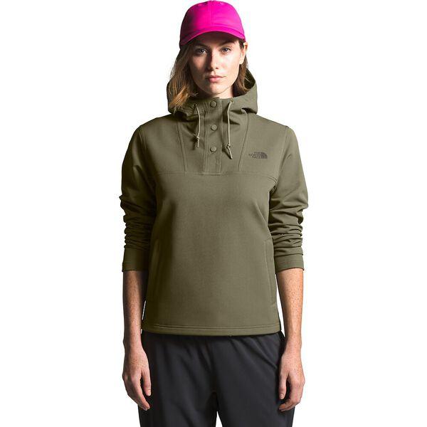 Women's Tekno Ridge Pullover Hoodie, BURNT OLIVE GREEN, hi-res
