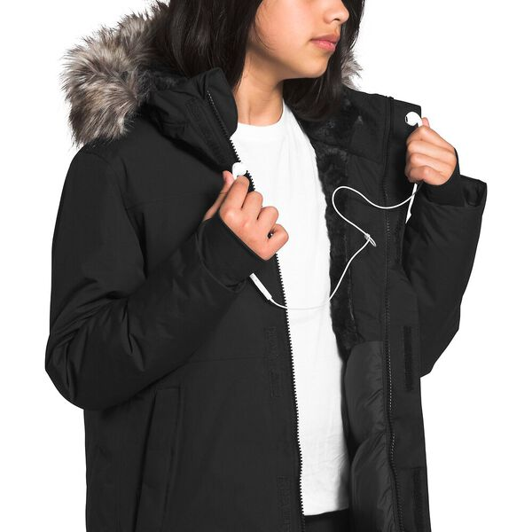 Girls' Arctic Swirl Parka, TNF BLACK, hi-res