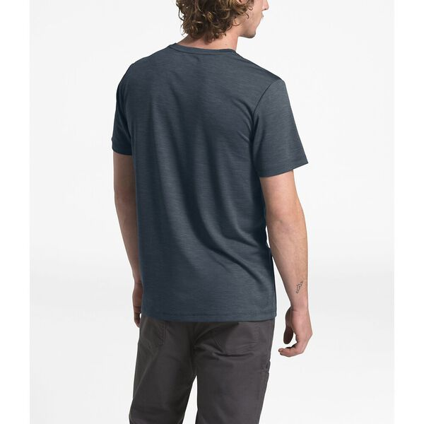 MEN'S HYPERLAYER FLASHDRY™ SHORT-SLEEVE CREW, URBAN NAVY HEATHER, hi-res