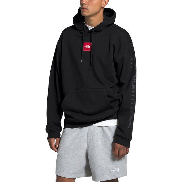 Men's Box Drop Pullover Hoodie, TNF BLACK, hi-res