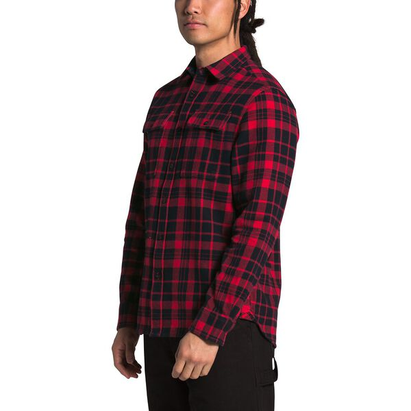 Men's Arroyo Flannel Shirt, TNF RED HERITAGE MEDIUM TWO COLOR PLAID, hi-res