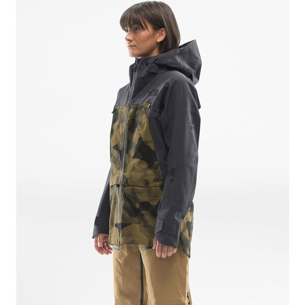 Women's A-Cad Jacket, BRITISH KHAKI RIDGELINE CAMO PRINT/WEATHERED BLACK, hi-res