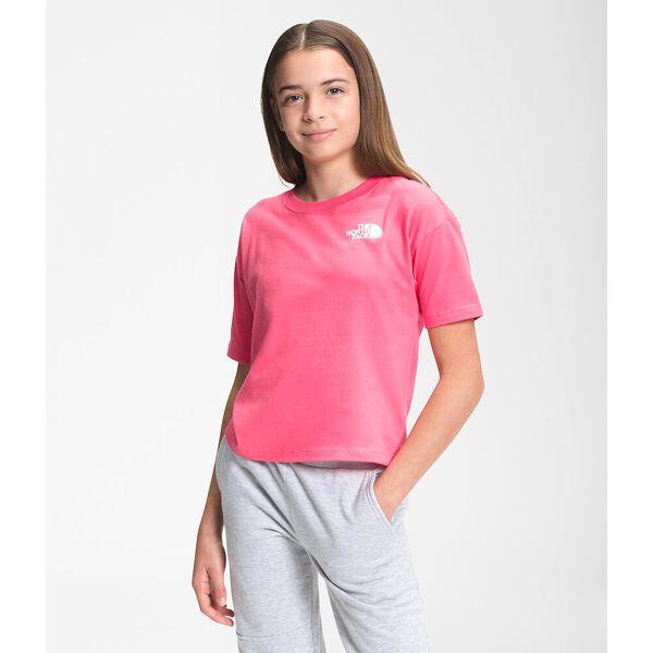 Girls' Short-Sleeve Graphic Tee, PRIM PINK, hi-res