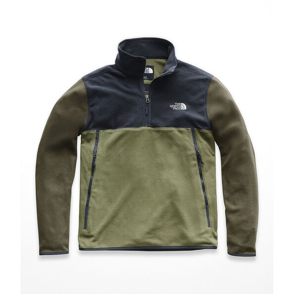 MEN'S GLACIER ALPINE 1/4 ZIP, FOUR LEAF CLOVER-URBAN NAVY-NEW TAUPE GREEN, hi-res