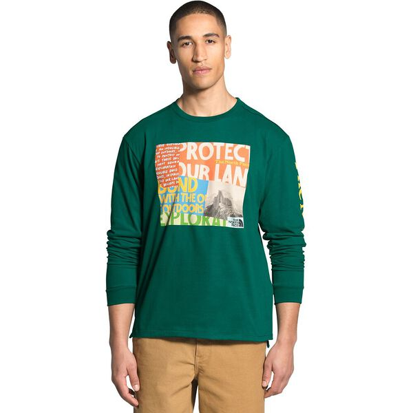 Men's Long-Sleeve Rogue Graphic Tee, EVERGREEN, hi-res