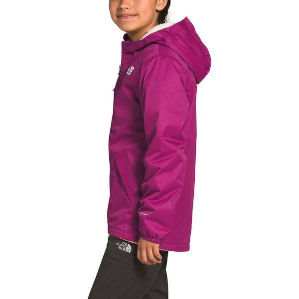 Girls' Warm Storm Rain Jacket, WILD ASTER PURPLE, hi-res