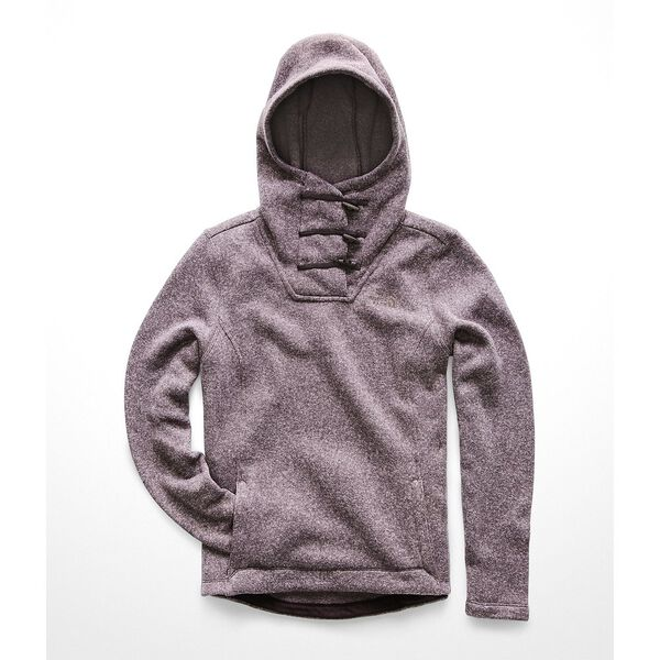 WOMEN'S CRESCENT HOODED PULLOVER, GALAXY PURPLE MULTI CRESCENT HEATHER, hi-res