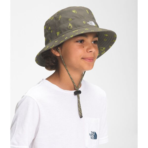 Youth Class V Brimmer, NEW TAUPE GREEN CAMP ESSENTIALS PRINT, hi-res