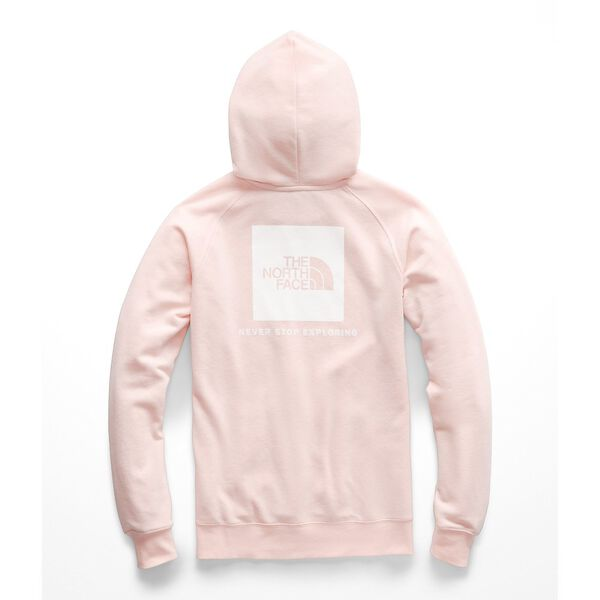 WOMEN'S RED BOX PULLOVER HOODIE, PINK SALT-TNF WHITE, hi-res