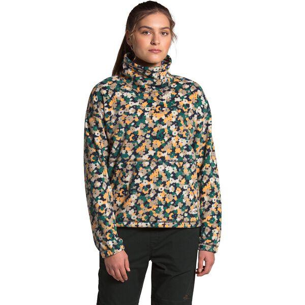 Women's Metberry Fleece Pullover, AVIATOR NAVY RETRO FLORAL PRINT, hi-res