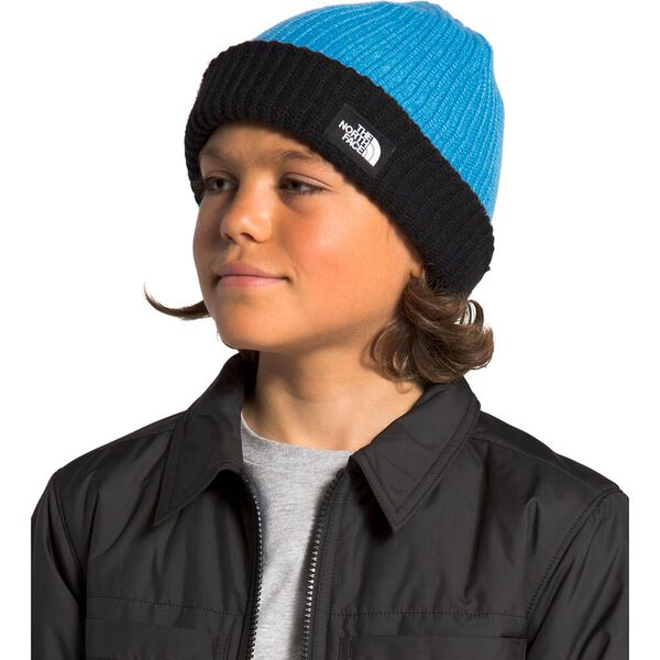 Youth Salty Dog Beanie, CLEAR LAKE BLUE/TNF BLACK, hi-res