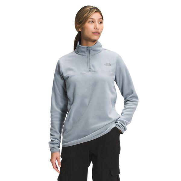 Women's TKA Glacier Fleece ¼ Zip, MID GREY, hi-res