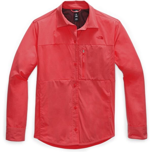 Women's Outdoor Trail Long-Sleeve Shirt, CAYENNE RED, hi-res