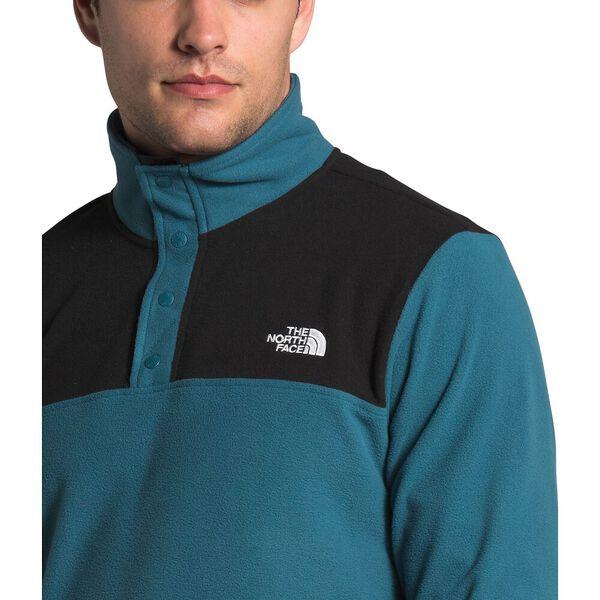 Men's TKA Glacier Snap-Neck Fleece, MALLARD BLUE/TNF BLACK, hi-res