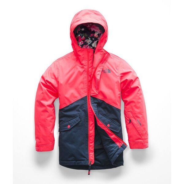 GIRLS' FREEDOM INSULATED JACKET, ROCKET RED, hi-res