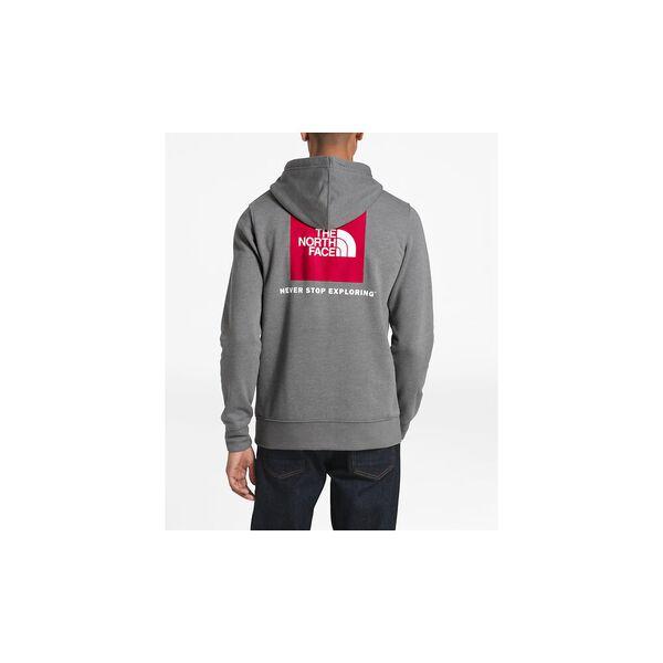 MEN'S RED BOX PULLOVER HOODIE, TNF MEDIUM GREY HEATHER/TNF RED, hi-res