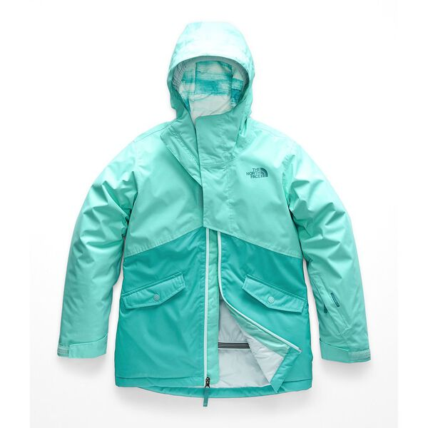 GIRLS' FREEDOM INSULATED JACKET, MINT BLUE, hi-res