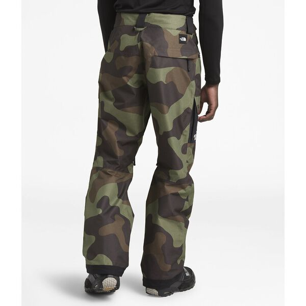 MEN'S SLASHBACK CARGO SKI PANTS, FOUR LEAF CLOVER TERRA CAMO PRINT/TNF BLACK, hi-res