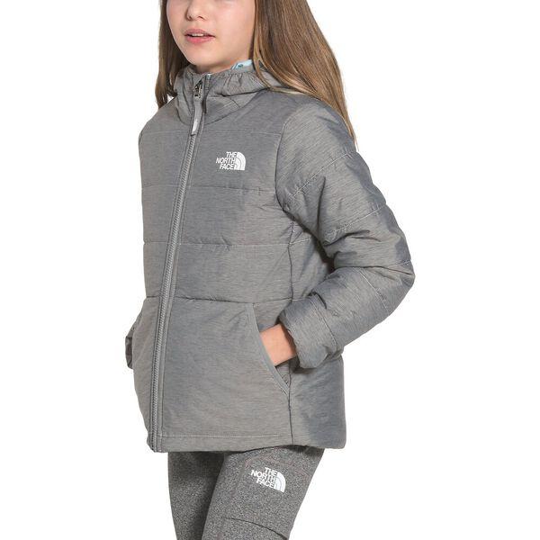 Girls' Reversible Perrito Jacket, TNF MEDIUM GREY HEATHER, hi-res